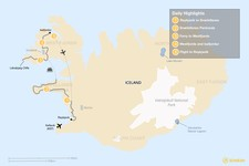 Map thumbnail of Iceland West Coast Road Trip - 6 Days