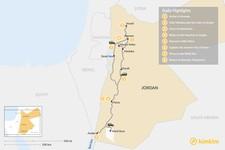 Map thumbnail of Family Trip to Jordan:  Petra, Dead Sea, Wadi Rum, & More – 8 Days