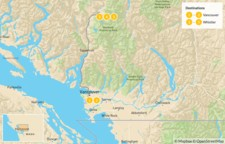 Map thumbnail of Sea-to-Sky Highway: Vancouver to Whistler - 6 Days