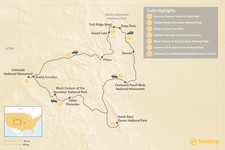Map thumbnail of Colorado's National Parks - 7 Days