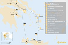 Map thumbnail of Athens, Mainland Greece, The Cyclades, and Crete - 17 Days