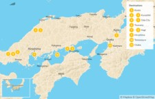 Map thumbnail of In the Shadow of Mountains: From Sea to Sea in Southern Japan - 12 Days