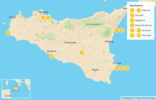 Map thumbnail of Sicily Highlights Self-Drive Tour - 11 Days