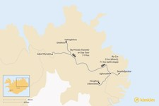 Map thumbnail of How to Get from Lake Myvatn to Seydisfjordur