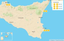 Map thumbnail of Sicily Highlights Self-Drive Tour - 8 Days