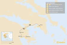 Map thumbnail of Family Holiday in Athens & Nafplio - 6 Days