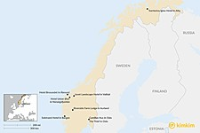 Map thumbnail of Top 8 Boutique Hotels in Norway