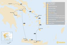 Map thumbnail of Historic Athens, Mainland Greece, Cyclades and Crete - 11 Days