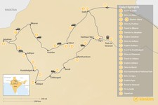 Map thumbnail of Highlights of Rajasthan  - 21 Days