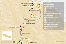 Map thumbnail of Everest Base Camp Heli Trek - 14 Days