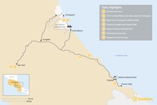 Map thumbnail of Costa Rica's Caribbean Coast: Tortuguero & Puerto Viejo - 7 Days