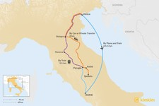 Map thumbnail of How to Get from Venice to Umbria