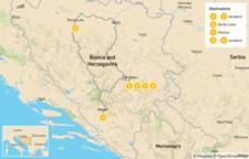 Map thumbnail of Historic Bosnia & Herzegovina: Sarajevo, Banja Luka & Mostar - 7 days