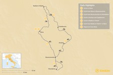 Map thumbnail of Riding the Eroica Among Famous Vineyards in Tuscany - 7 Days