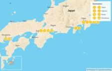 Map thumbnail of Explore Japan: Tokyo, Kyoto, & Hiroshima - 14 Days
