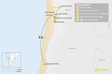 Map thumbnail of San Pedro de Atacama & Uyuni - 8 Days