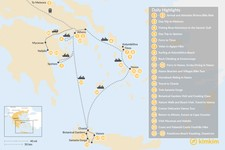 Map thumbnail of Active Athens, Mainland Greece, Cyclades, and Crete - 23 Days