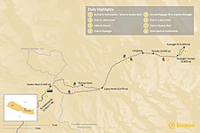 Map thumbnail of Langtang Trek - 11 Days