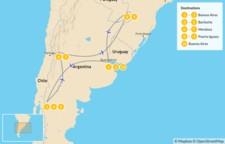 Map thumbnail of Classic Argentina: Patagonia, Mendoza, & Iguazú - 11 Days