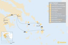 Map thumbnail of Cyclades & Peloponnese Culinary Heritage - 10 Days