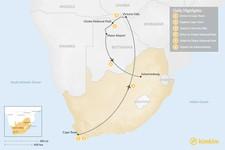 Map thumbnail of Southern Africa Safari: Cape Town, Victoria Falls, & Chobe National Park - 6 Days