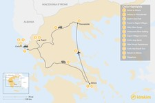Map thumbnail of Athens, Northern Greece, & Corfu Adventure - 12 Days
