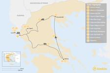 Map thumbnail of Athens, Northern Greece, & Corfu Adventure - 12 Days