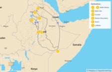 Map thumbnail of Best of Ethiopia - 8 Days