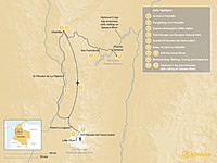 Map thumbnail of Colombian Adventure: Summit to River - 9 Days