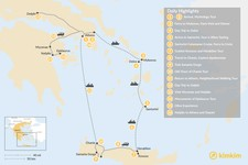 Map thumbnail of Greek Panorama: Cyclades, Crete, and the Mainland - 16 Days