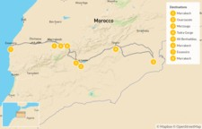 Map thumbnail of Southern Morocco: Marrakech, Sahara & the Atlas Mountains - 9 Days