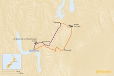 Map thumbnail of How to Get from Queenstown to Wanaka