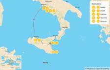 Map thumbnail of Naples, Amalfi Coast, & Sicily - 12 Days