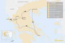 Map thumbnail of Enchanting Northern Greece and Corfu - 8 Days