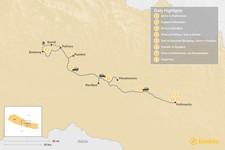 Map thumbnail of Kathmandu & Pokhara Valleys - 8 Days