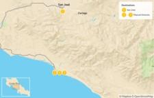 Map thumbnail of San José and Manuel Antonio - 5 Days