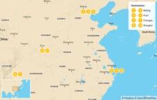 Map thumbnail of Discover China's Highlights: Beijing, Xian, Chengdu, Shanghai - 11 Days