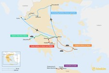 Map thumbnail of 6 Days in Greece - 6 Unique Itinerary Ideas