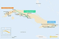 Map thumbnail of 7 Days in Cuba - 3 Unique Itineraries
