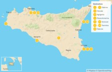 Map thumbnail of Sicily Highlights Self-Drive Tour - 12 Days
