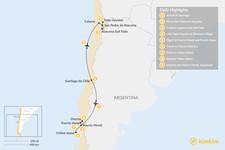 Map thumbnail of  Atacama Desert & Lake District - 9 Days
