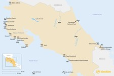 Map thumbnail of Best Water Activities in Costa Rica