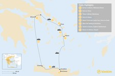 Map thumbnail of Cyclades & Crete Culinary History Tour - 8 Days