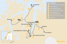 Map thumbnail of Northern Norway Lyngenfjord Trek - 8 Days