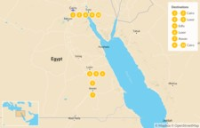 Map thumbnail of Egypt by Land and Sea: Cairo, Luxor, & the Nile - 10 Days
