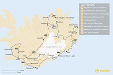 Map thumbnail of Self-Guided Iceland Grand Tour by Land Rover