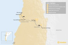 Map thumbnail of Central Chile Exploration - 5 Days