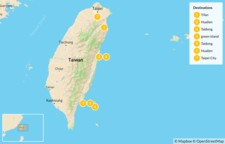 Map thumbnail of Taiwanese East Coast & Green Island Tour - 7 Days
