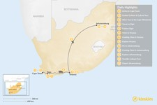 Map thumbnail of South Africa Food & Wine Tour: Cape Town, Garden Route, & Johannesburg - 13 Days