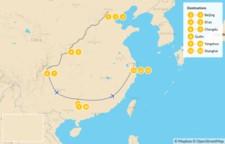 Map thumbnail of Beijing, Xi'an, Chengdu, Guilin & Shanghai Tour - 14 Days
